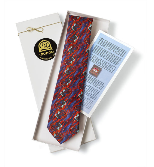 Loon Tie (Purple) - Artfest Ontario - Inunoo - Ties