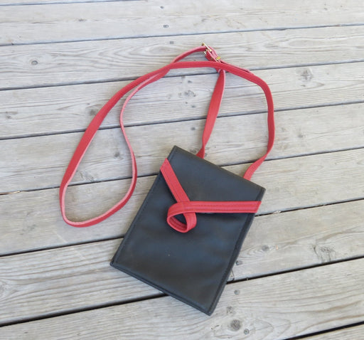 Loop, tall- black with red loop - Artfest Ontario - Arrowsmith Leather - Clothing & Accessories