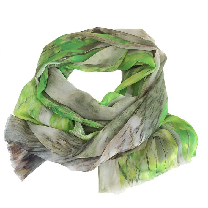 Magwood Beech Wrap - Artfest Ontario - Water Wood Style - Silk Georgette Shoulder Wrap