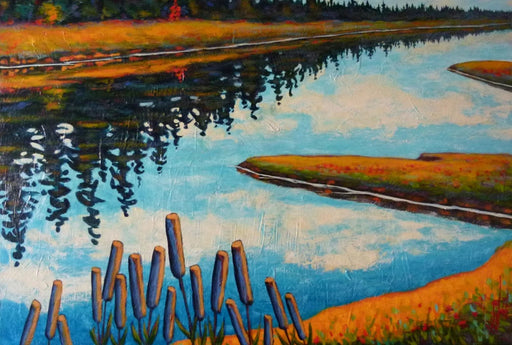 Marais et Quenouilles (Marshes and Cattails) - Artfest Ontario - Gilles Côté - Paintings -Artwork - Sculpture