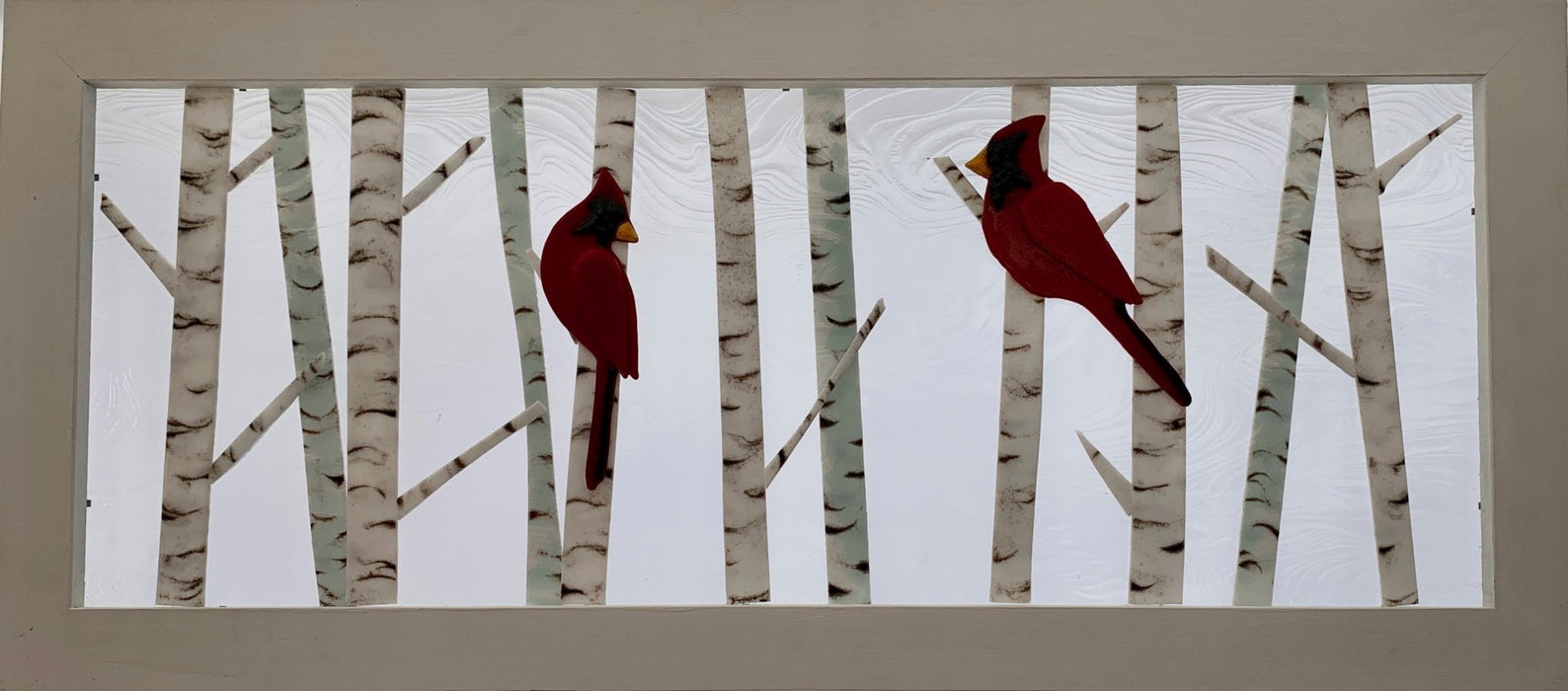 Med Cardinals and Chickadees - Artfest Ontario - Out of Ruins - Glass Work