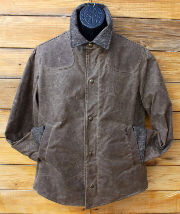 Mens Scout Mid Length Wax Cotton Jacket - Artfest Ontario - Paul Brodie Footwear - Clothing & Accessories
