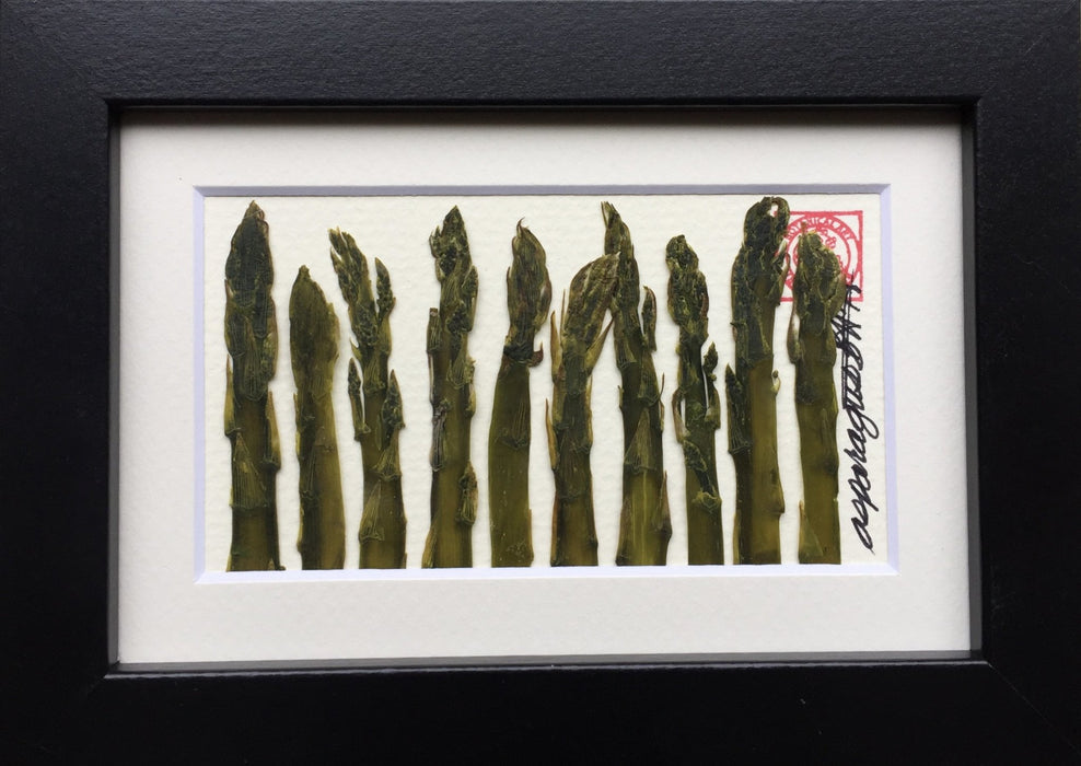 Mini Asparagus Vegetable Frame - Artfest Ontario - Botanical Art By Diane - Home Decor