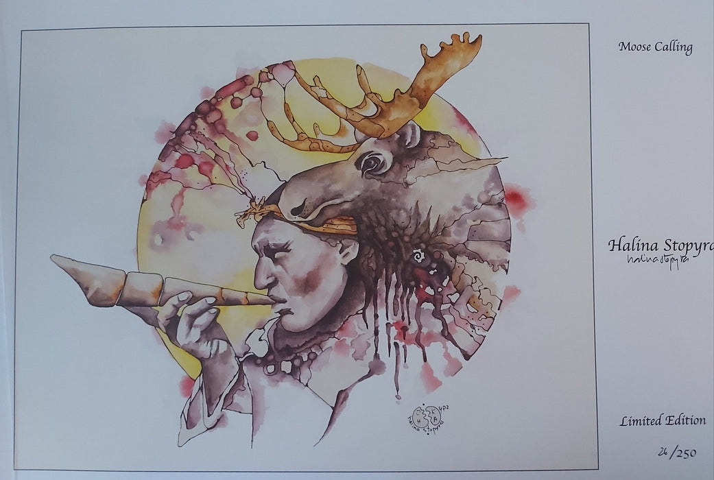 Moose Calling - Artfest Ontario - Halina Stopyra - Paintings, Artwork & Sculpture