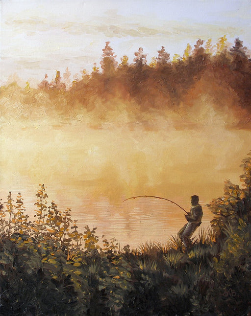 Morning Fishing - Artfest Ontario - Olena Lopatina - Paintings