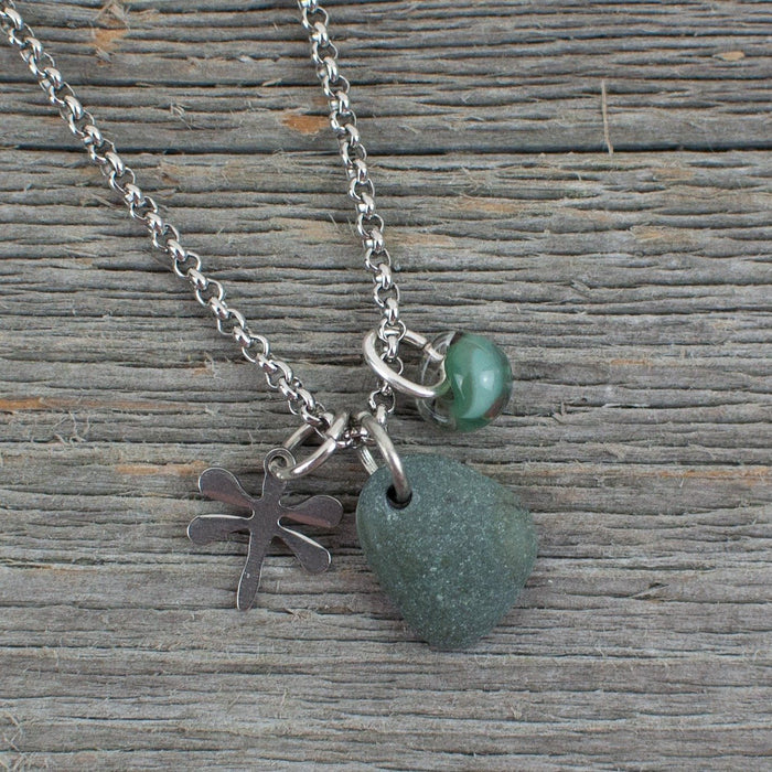 Multi charm dragonfly necklace - Artfest Ontario - Lisa Young Design - Charm Necklaces