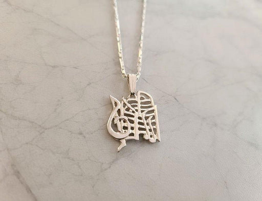 Music Maestro Please! Sterling Silver Pendant on Chain - Artfest Ontario - Delicate Touch Jewellery - Fine Jewellery