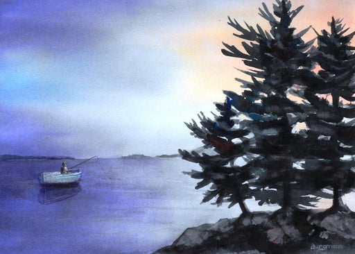 Muskoka Fishing - Artfest Ontario - PetrArts - Paintings -Artwork - Sculpture