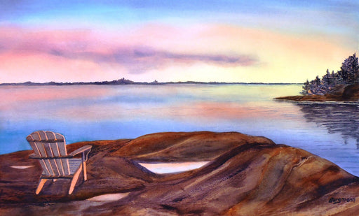 Muskoka Sunset - Artfest Ontario - PetrArts - Paintings -Artwork - Sculpture