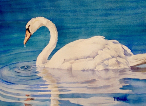 Mute Swan - Artfest Ontario - Back-in-Time Gallery - Paintings by Donna Bonin - Paintings, Artwork & Sculpture