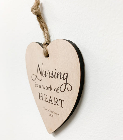 Nursing is a Work of Heart, Year of the Nurse 2020 - Artfest Ontario - Urban Nest Decor - Nurse
