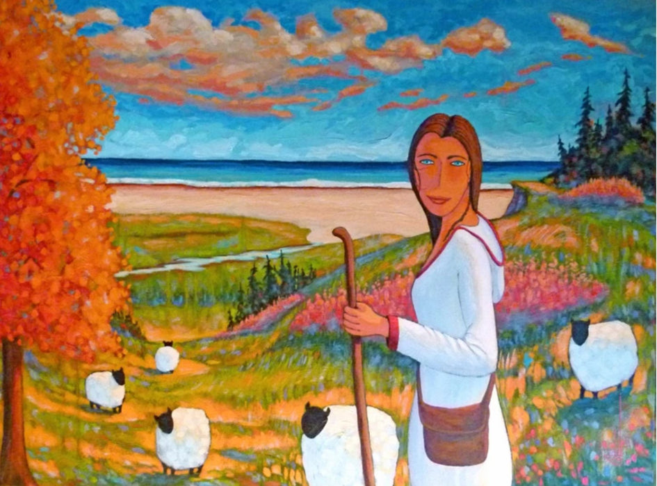 On se retrouve à la plage (We meet at the beach) - Artfest Ontario - Gilles Côté - Paintings -Artwork - Sculpture