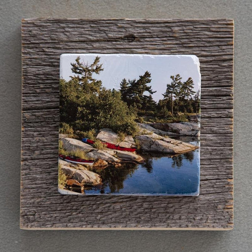 On The Rocks - On Barn Board 1566 - Artfest Ontario - Art On Stone - Photography