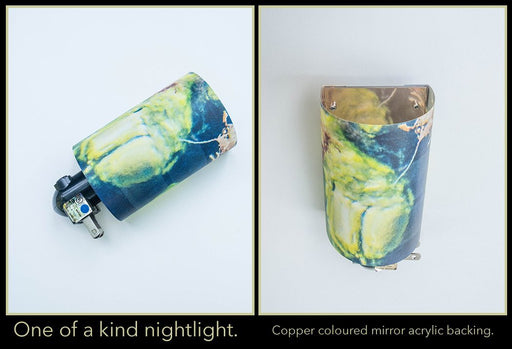 OOAK nightlight (copper back) - Artfest Ontario