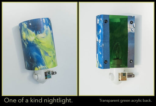 OOAK nightlight (green back) - Artfest Ontario