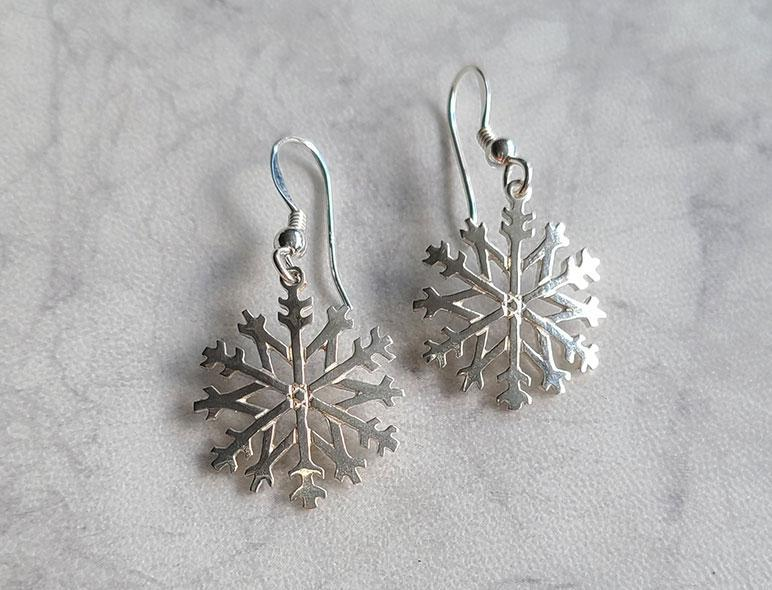 Original Snowflake Earrings - Artfest Ontario - Delicate Touch Jewellery - Fine Jewellery