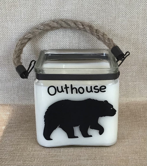 Outhouse – 20 oz Square Cube Candle with Rope - Artfest Ontario - North Country Candle - Furniture & Houseware