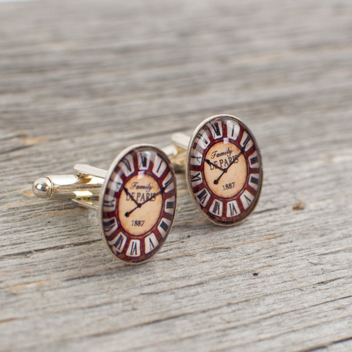 Oval Watch Face Cufflinks - Artfest Ontario - Lisa Young Design - Cuff Links