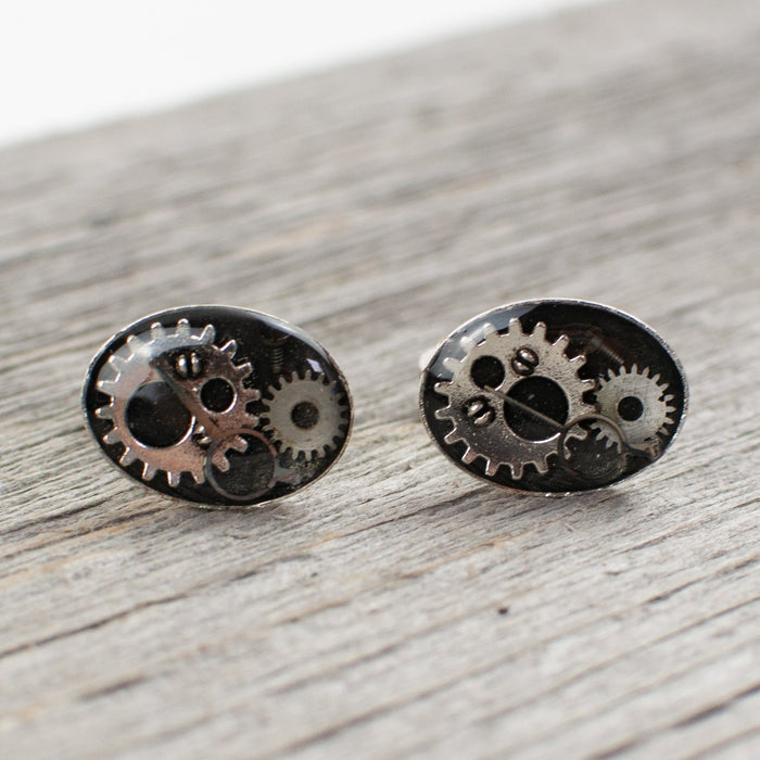 Oval Watch Part Cuff links - Artfest Ontario - Lisa Young Design - Cuff Links