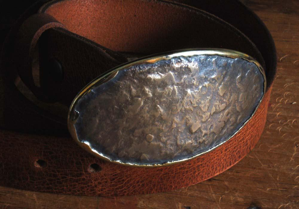 Oval Western Belt Buckle - Artfest Ontario - Iron Art - Clothing & Accessories