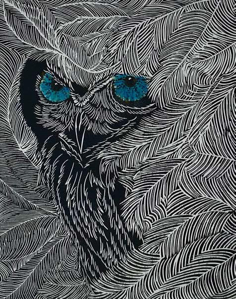 Owl #11 - Artfest Ontario - Elena Gorlenko Prints - Paintings -Artwork - Sculpture