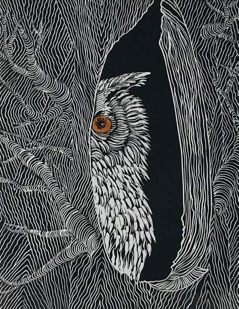 Owl #12 - Artfest Ontario - Elena Gorlenko Prints - Paintings -Artwork - Sculpture