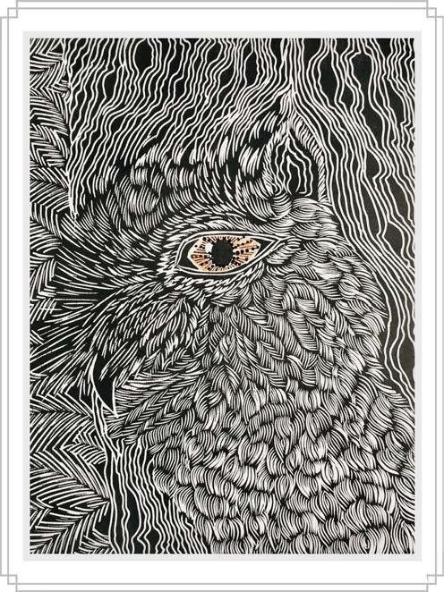 Owl #14 - Artfest Ontario - Elena Gorlenko Prints - Paintings -Artwork - Sculpture