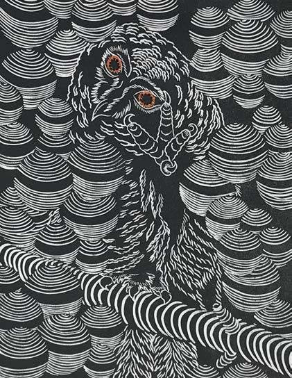 Owl #2 - Artfest Ontario - Elena Gorlenko Prints - Paintings -Artwork - Sculpture