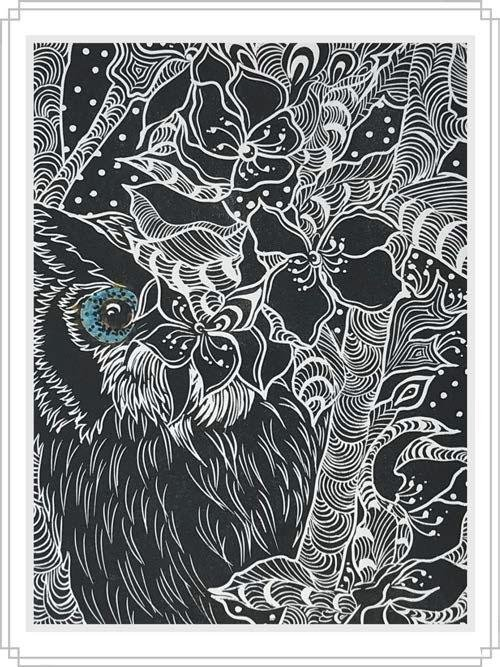 Owl #7 - Artfest Ontario - Elena Gorlenko Prints - Paintings -Artwork - Sculpture