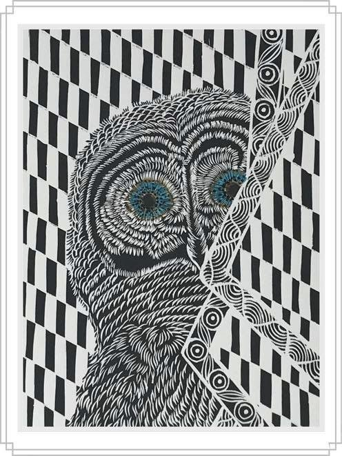 Owl #8 - Artfest Ontario - Elena Gorlenko Prints - Paintings -Artwork - Sculpture
