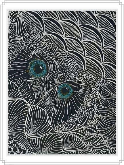 Owl #9 - Artfest Ontario - Elena Gorlenko Prints - Paintings -Artwork - Sculpture