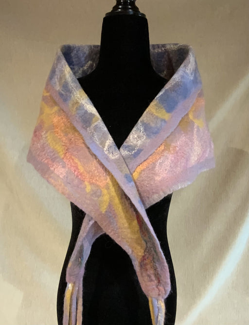 Pastel warmth - Artfest Ontario - Love to Felt Artwear - Clothing & Accessories