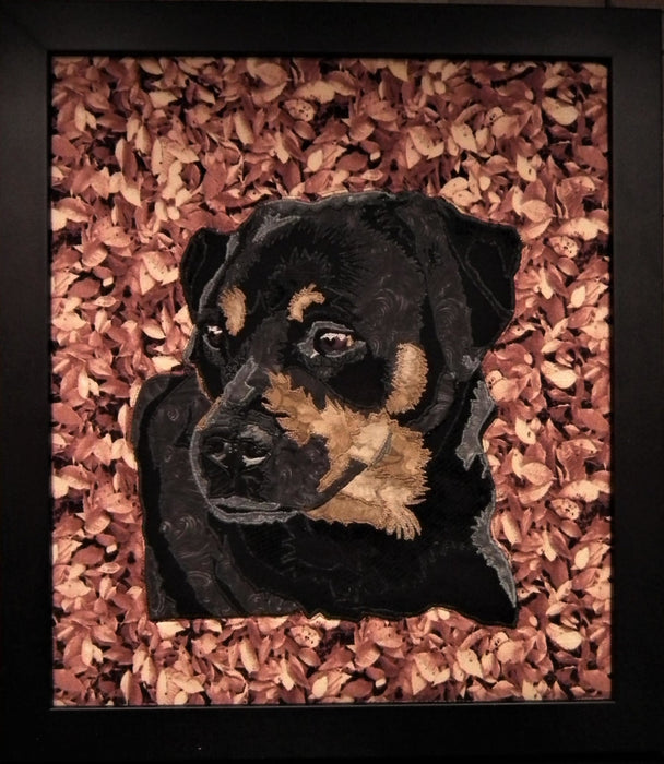 Patiently Waiting Dog Quilted Portrait - Artfest Ontario - Tamara's Treasured Shop - Home Decor