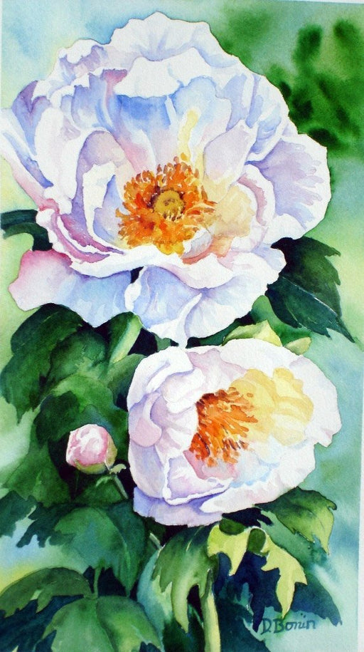 Peonies - Artfest Ontario - Back-in-Time Gallery - Paintings by Donna Bonin - Paintings, Artwork & Sculpture