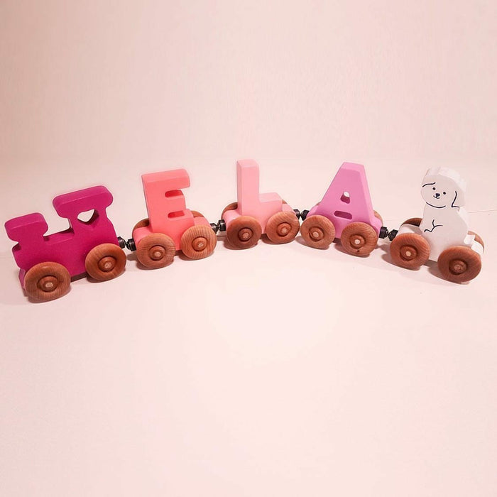Personalised Wooden Magnetic Train - 3 letters - Artfest Ontario - Wooden Puzzle Name Canada - Toys & Games