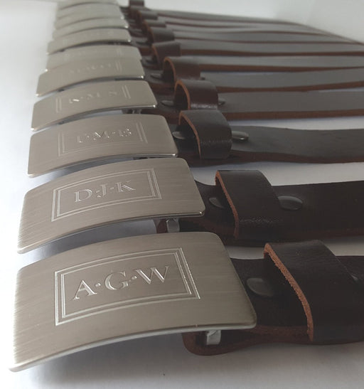 Personalized Monogrammed Belt & Buckle Set for Jeans - Artfest Ontario - Iron Art - Clothing & Accessories