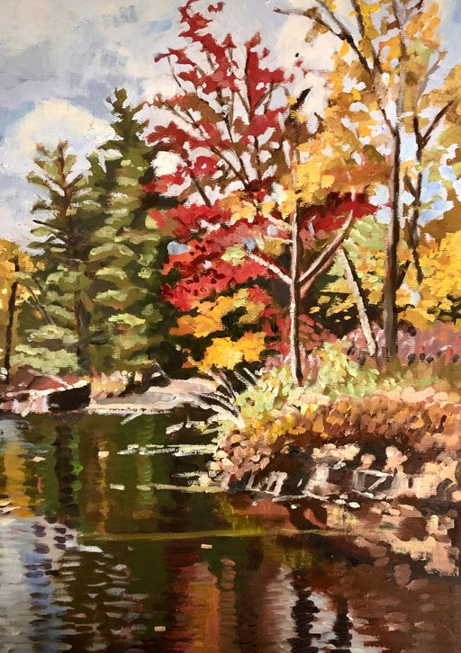 Picnic Area View by the Highway, Cloyne ON - Artfest Ontario - Lynne Ryall Art - Paintings, Artwork & Sculpture
