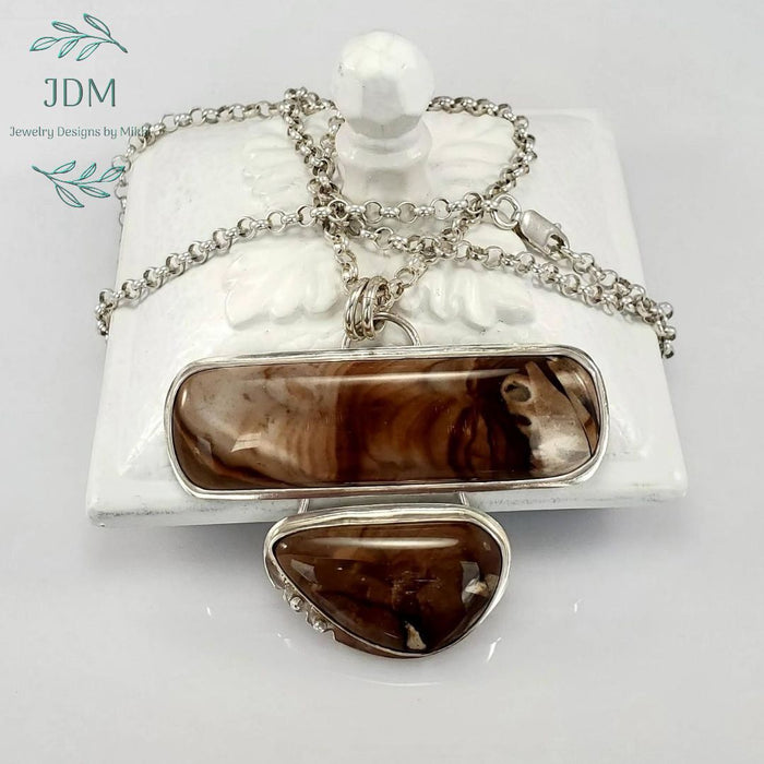 Picture Jasper Necklace - JDM Jewelry Designs by Mikki - Artfest Ontario - JDM - Jewelry Designs by Mikki - Jewelry & Accessories