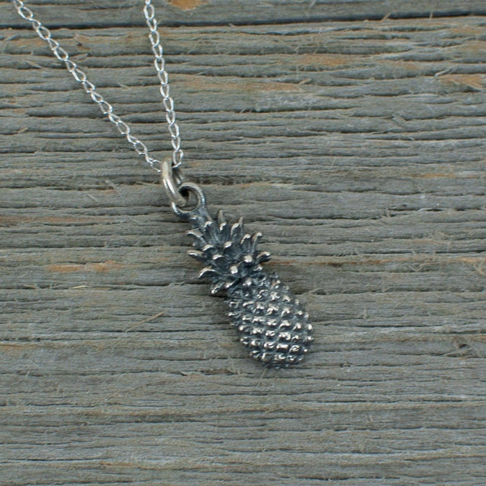 Pineapple Silver Necklace - Artfest Ontario - Lisa Young Design - Charm Necklaces