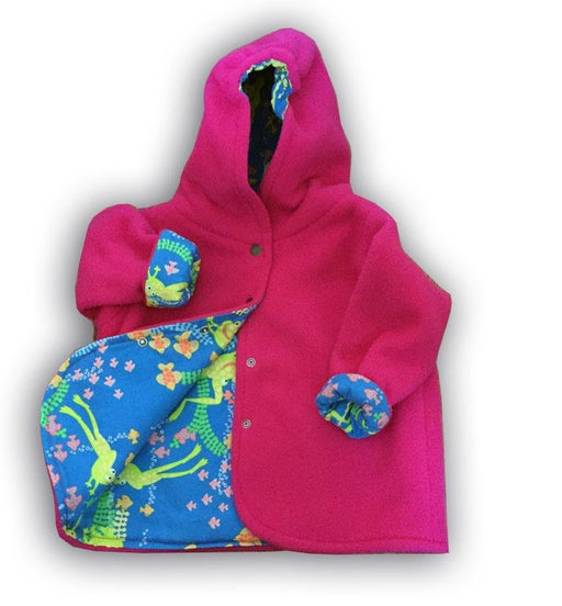 Pink Froggy Polar Fleece Reversible Jacket - Artfest Ontario - Muffin Mouse Creations - Clothing & Accessories