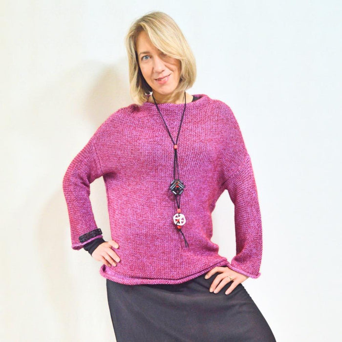Pink Laila Sweater - Artfest Ontario - OlgaG Knits - Clothing & Accessories