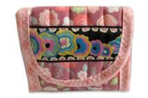 Pink, Red and Purple Everyday Pocket Wallet - Artfest Ontario - EMA Design Treasures - Quilted Products