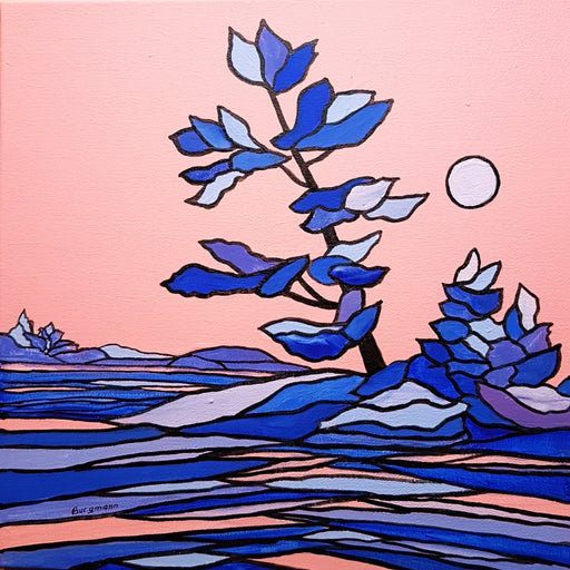 Pink Sky at Night - Artfest Ontario - PetrArts - Paintings -Artwork - Sculpture