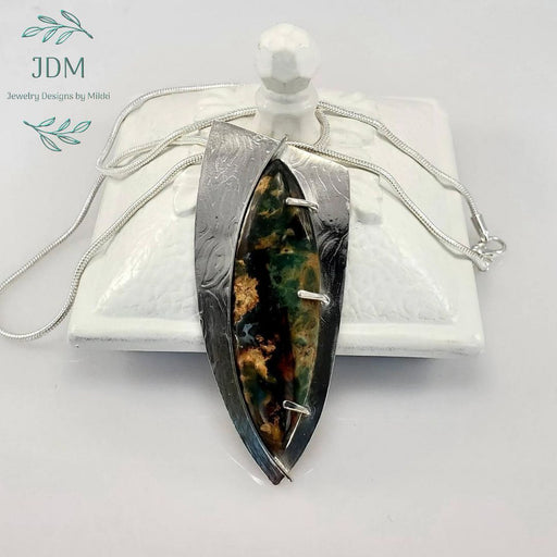 Plasma Agate Necklace -JDM Jewelry Designs by Mikki - Artfest Ontario - JDM - Jewelry Designs by Mikki - Jewelry & Accessories