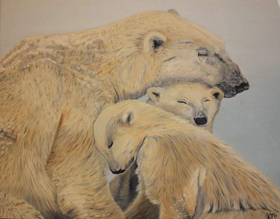 Polar Bears - Artfest Ontario - Sew Fancy Paints -