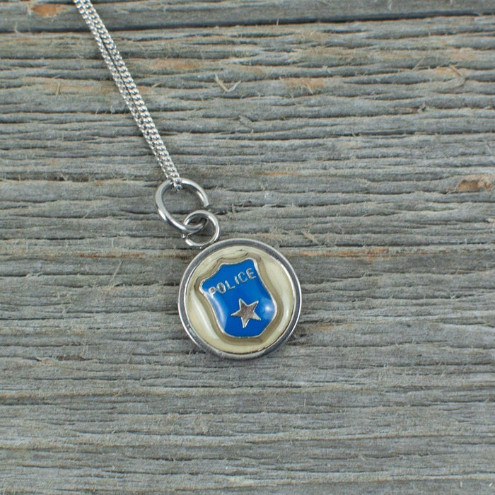 Police charm Necklace - Artfest Ontario - Lisa Young Design - Charm Necklaces