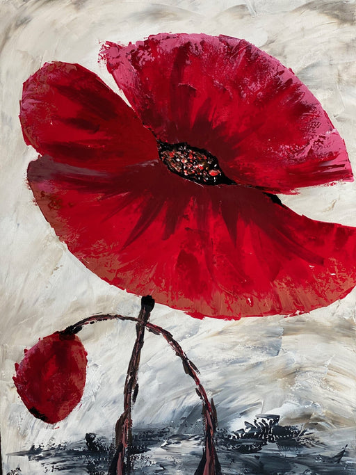 Poppies in my Heart - Artfest Ontario - Colburn Art - Paintings, Artwork & Sculpture