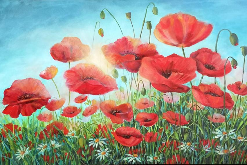 Poppies in the Sun - Artfest Ontario - Anna Krajewski - Paintings