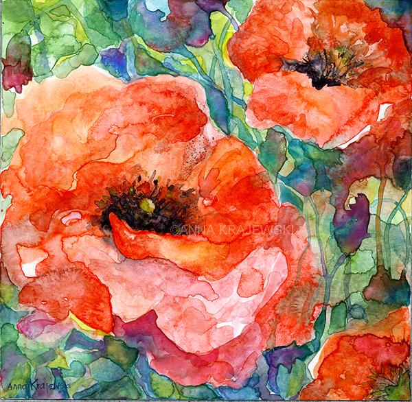 Poppy 3 - Artfest Ontario - Anna Krajewski - Paintings