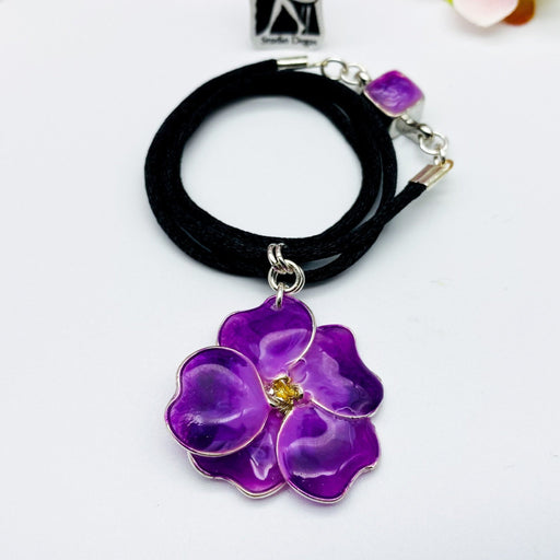Purple Pansy Necklace - Artfest Ontario - Studio Degas - Jewelry & Accessories